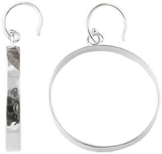 Artsmith BY BARSE Art Smith by BARSE Silver-Plated Bronze Hammered Hoop Earrings