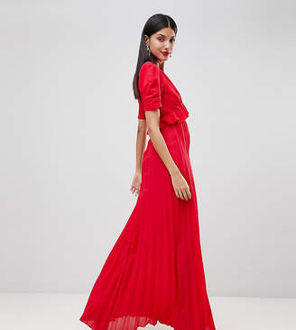 Asos Tall TALL Pleated Maxi Tea Dress