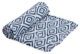 Little Unicorn Blue-Topaz Cotton Swaddle