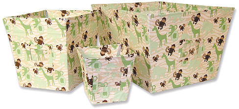 Trend Lab Jungle Jam 3 Fabric Storage Bin Set