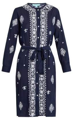 Melissa Odabash Fleur Embroidered Dress - Womens - Navy White
