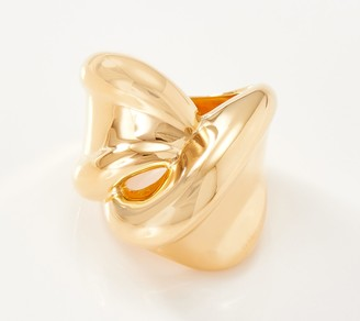 Gold One 1KT Gold Polished Twisted Band Ring