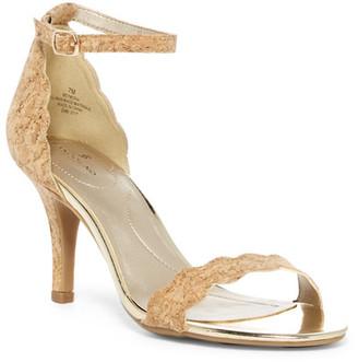 Bandolino Meria Natural Cork Sandal $59 thestylecure.com