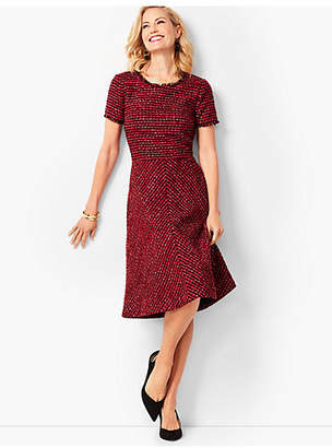 Talbots Tweed Fit & Flare Dress
