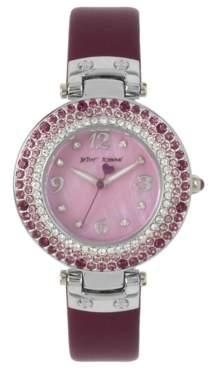 Betsey Johnson Amethyst Stone Bezel Women's Watch