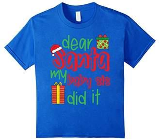 Dear Santa My Baby Sister Did It Funny Christmas T-Shirt