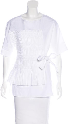 3.1 Phillip Lim 3.1 Phillip Lim Pleated Short Sleeve Top w/ Tags
