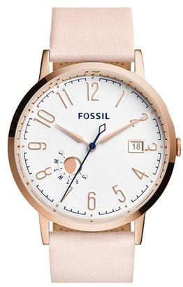 Women's Fossil 'Vintage Muse' Leather Strap Watch, 40Mm $135 thestylecure.com
