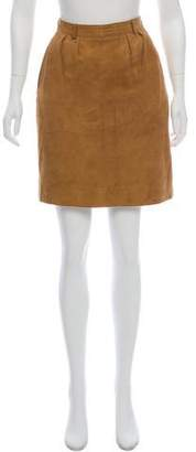 Burberry Suede Mini Skirt