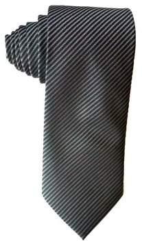 James Cavolini Italy Striped Grey Neck Tie