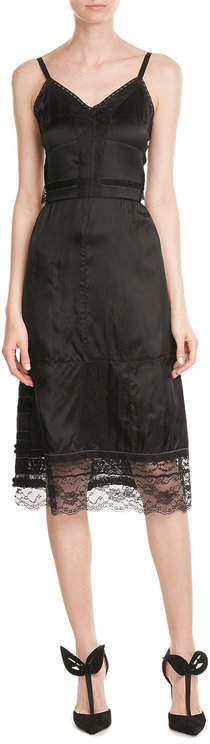 Marc Jacobs Marc Jacobs Satin Dress with Lace