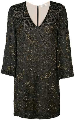 Alice + Olivia Alice+Olivia V-neck glitter dress