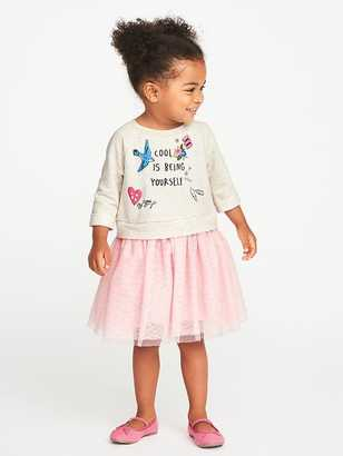2-in-1 Fit & Flare Tutu Dress for Toddler Girls $24.99 thestylecure.com