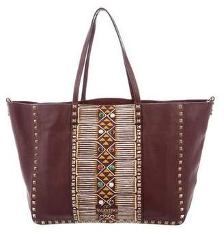 Valentino 2016 Rolling Rockstud Convertible Tribal Tote