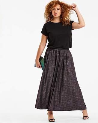 Fashion World Stretch Jersey Glitter Maxi Skirt