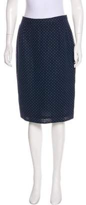 Aether Polka Dot Pencil Skirt