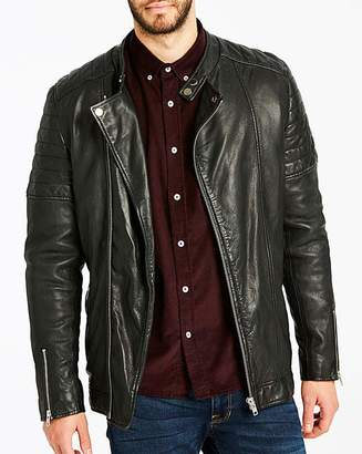 Jacamo Black Label By Black Smart Leather Jacket R