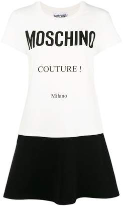 Moschino print T-shirt dress