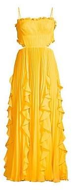 AMUR Women's Rayna Ruffled Tea-Length Dress