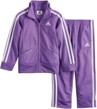 adidas Toddler Girl Tricot Zip Track Jacket & Pants Set