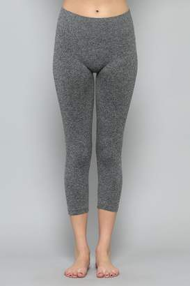 By Together Heather-Grey Cropped Legging