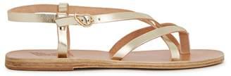 Ancient Greek Sandals Semele Gold Leather Sandals
