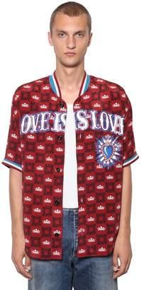 Dolce & Gabbana Square Logo Baseball Shirt W/ Heart
