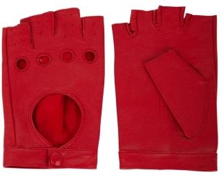 BCBGMAXAZRIA Heart-Cutout Moto Gloves