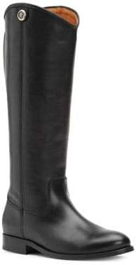 Frye Melissa Button Leather Knee-High Boots