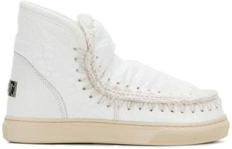Mou whipstitched ankle boots