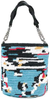 Ermanno Scervino woven bucket shoulder bag
