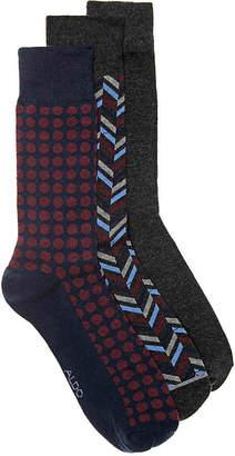 Aldo Textured Dots Crew Socks - 3 Pack - Men's