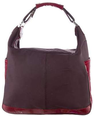 Tod's Patent Leather-Trimmed Hobo
