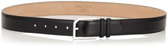 Jimmy Choo ALBIE Black Natural Vegetable Dyed Leather Belt