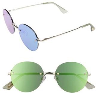 Women's Le Specs 'Bodoozle' 49Mm Round Sunglasses - Gold $79 thestylecure.com