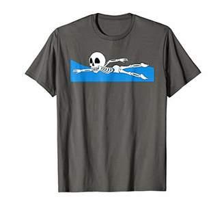 Halloween Skeleton Swimmer Shirt   All Hallows' Eve Gift