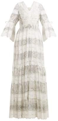 Etro Lace-trimmed floral-print cotton-blend dress