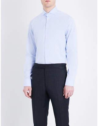Eton Geometric-patterned slim-fit cotton shirt