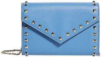 Valentino Leather Rockstud Wallet Bag