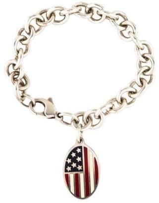 Tiffany & Co. America Flag Oval Tag Bracelet