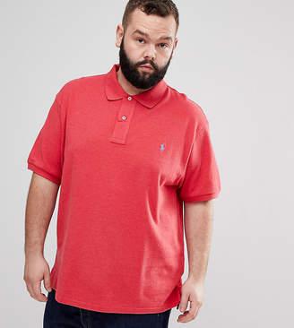Polo Ralph Lauren Big & Tall Pique Polo Player Logo In Red Marl