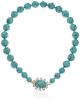 Carolee Turquoise Garden Collection Women's 16 inches Graduated Collar with Magnet Closure Necklace