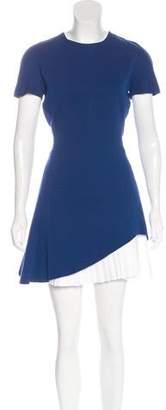 Victoria Beckham Pleated Mini Dress