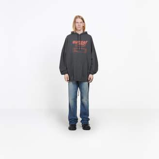 Balenciaga Europa! printed hooded sweater