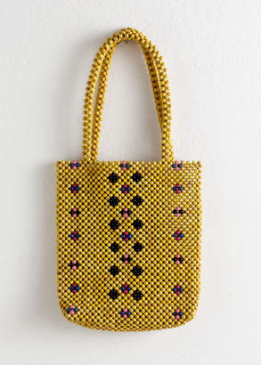 And other stories Wooden Beaded Tote Bag