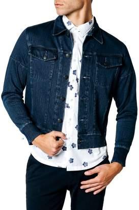 Good Man Brand Trim Fit Wool Blend Denim Jacket