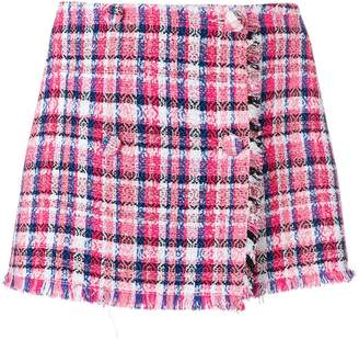 MSGM check mini skirt