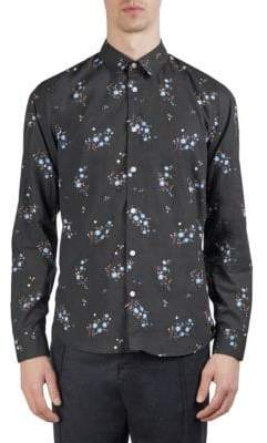 Kenzo Cheongsam Flower Cotton Button-Down Shirt