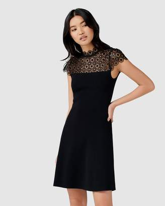 Forever New Kora Lace Yoke Knit Dress