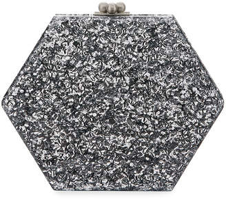 Edie Parker Macy Solid Hexagonal Clutch Bag